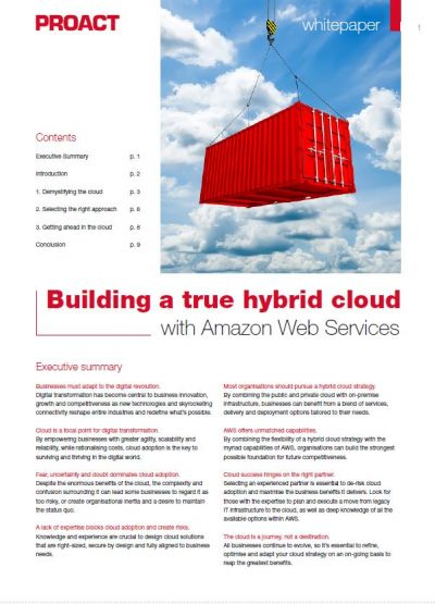 De optimale strategie voor een Hybrid Cloud met Amazon Web Services
