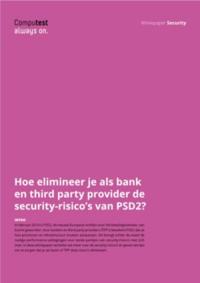 Hoe elimineer je als bank en third party provider de security-risico's van PSD2?