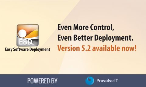 Lancering versie 5.2 Easy Software Deployment.